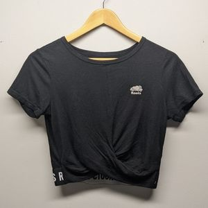 Black Roots Crop Top T-shirt